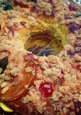 Roscón de Reyes sin gluten al aroma de ratafía (Thermomix)
