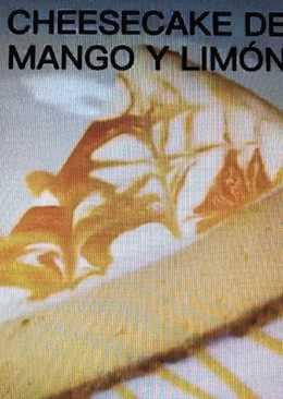Tarta de queso de mango y limón