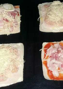 Pizzas fáciles con pan de molde