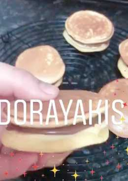 Dorayakis rellenos de nutella