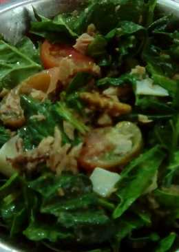 Ensalada de espinacas sencilla