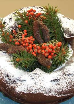 Tarta de cacao y moras para Navidad