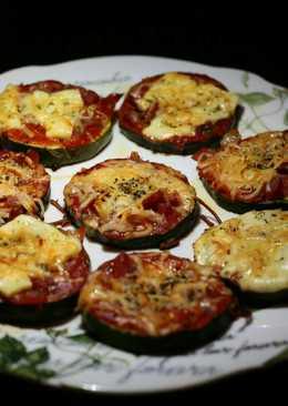 Pizzetas de calabacín con jamón y queso manchego 🌱🍕