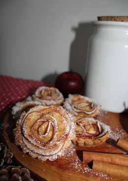Tartaletas de crema pastelera y manzana