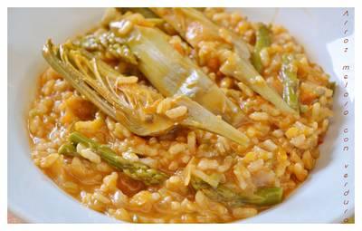 Arroz meloso con verduras (Thermomix)