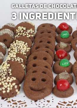 Galletas de chocolate con 3 ingredientes