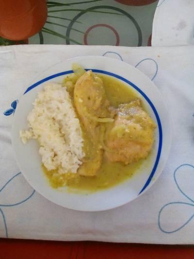 Pollo a la mostaza y cilantro