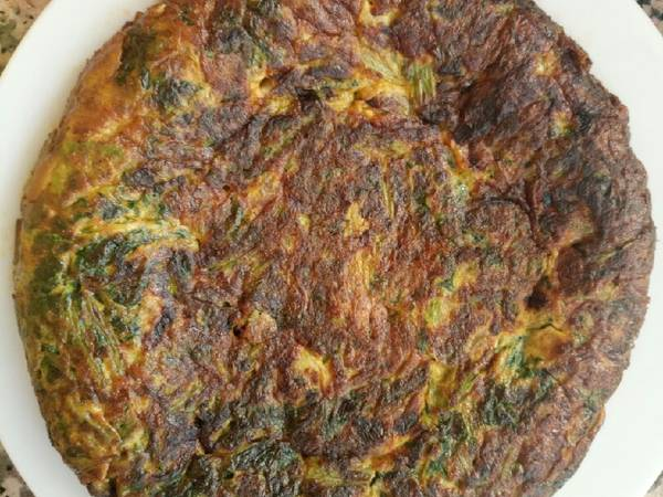 Tortilla de acelga y espárragos