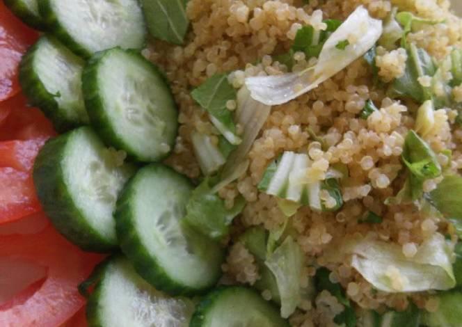 Quinoa cocida con espinaca y lechuga receta de alicia for Cocinar quinoa negra