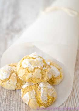 Galletas de limón craqueladas con jengibre