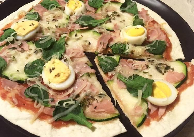 Receta de pizza light