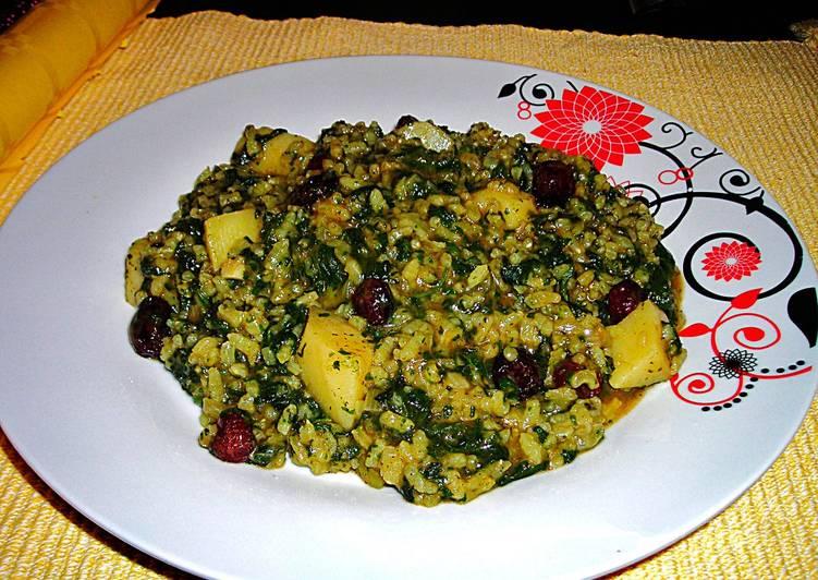 Ortigas con arroz y ar ndanos deshidratados receta de Cocinar ortigas de mar