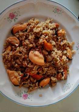 Mejillones con arroz integral