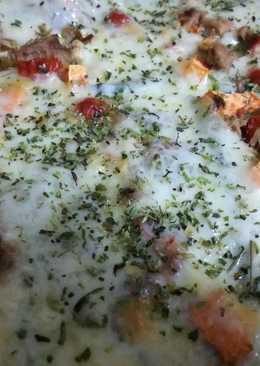 Berenjenas con provolone y verduras