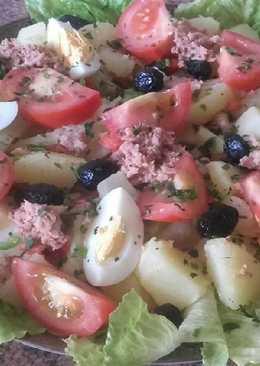 Ensalada de patatas en 10 minutos /comida de Marruecos