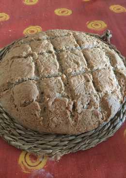Pan de trigo y trigo sarraceno, nueces con thermomix