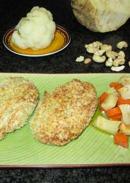 Pelotas alargadas de coliflor con guarnición - vegana