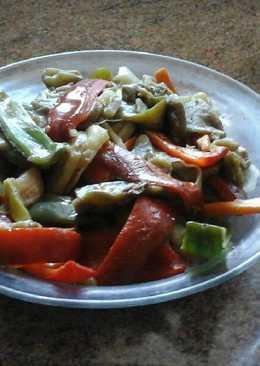 Verduras al wok para acompañar carne o pescado