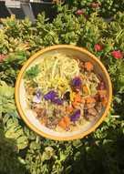 Flores y verduras