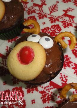 "Cupcakes ""Reno de chocolate"" -sin gluten"