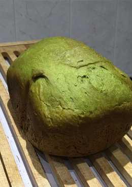 Pan de viena de té Matcha con chocolate blanco (en panificadora)