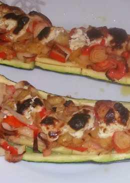 Calabacines de surimi al horno