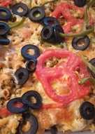 Pizza de carne de soja texturizada