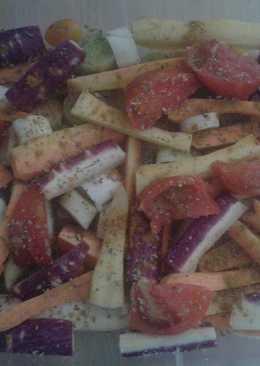 Verduras gratinadas con queso y ras al hanout