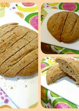 Pan de semillas con bol de pyrex