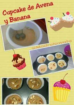 Cupcake de avena y banano