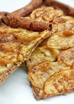 Tarta de manzana crujiente realfood (integral y sin azúcar)