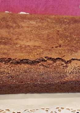 Bizcocho coca de llanda con sabor a brownie en Thermomix