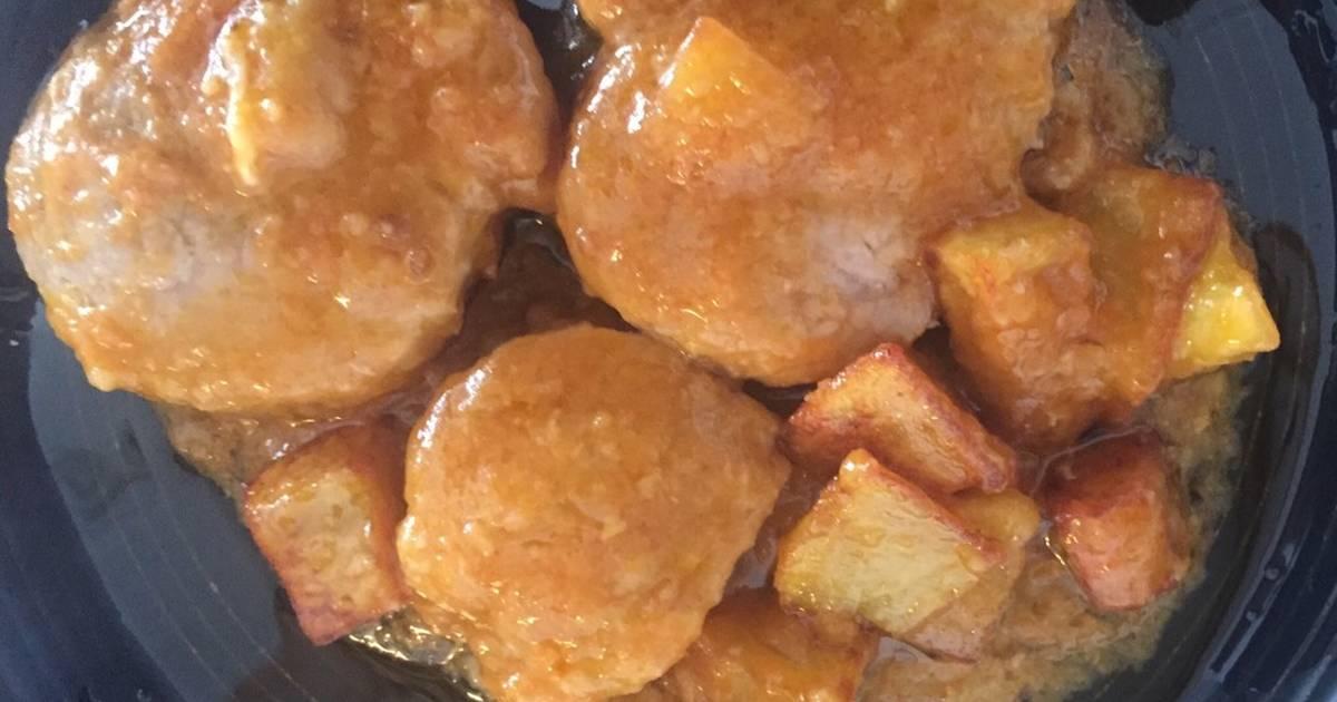 Solomillo de cerdo en salsa 89 recetas caseras cookpad - Solomillo de cerdo encebollado ...