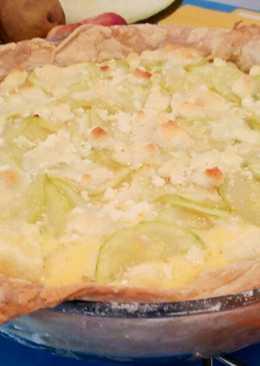 Tarta de calabacín y queso