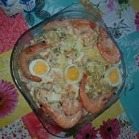 Ensalada de langostino cocido y patatas