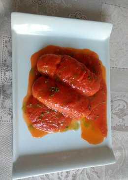Merluza con tomate al aceite de albahaca