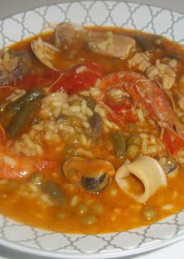 Arroz caldoso de pescado y marisco