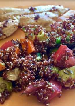 Ensalada de quinoa roja súper rápida y fresquita!