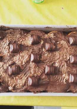 Tarta de galletas con chocolates