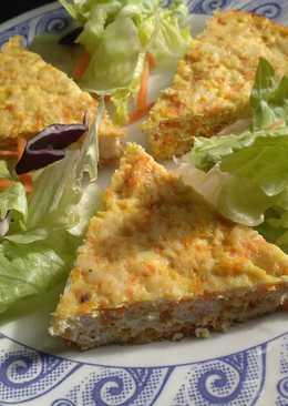 Pastel de pollo con apio y zanahoria