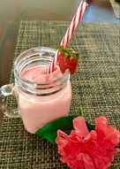 Smoothie de yogurt, fresas y banana