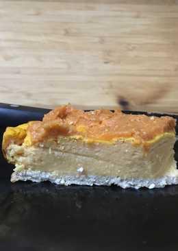 Tarta de calabaza, queso y avena