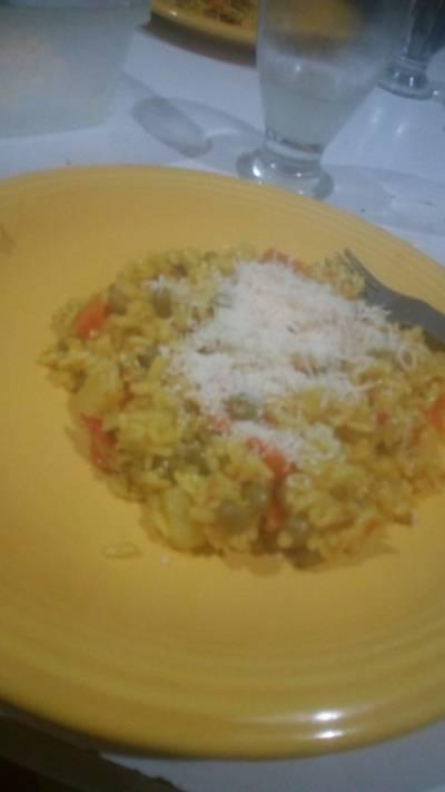 Guisito de arroz vegetariano