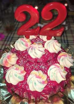 Tarta de queso fría 🍒 con cerezas - tarta de cumpleaños 🎂