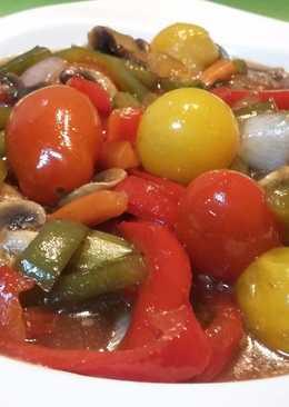 Verduras teriyaki