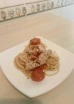 Spaghettis con xarda(caballa)