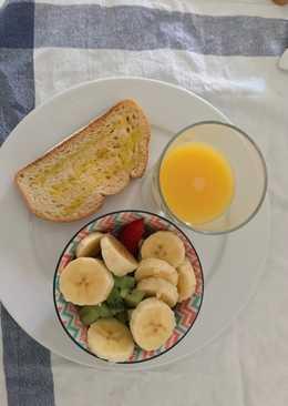 Ensalada de frutas. Desayuno ligero