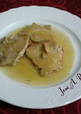 Lomo de cerdo en reducción de jugo de naranja
