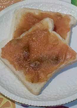 Tostadas de boniato con azúcar integral de caña caramelizado