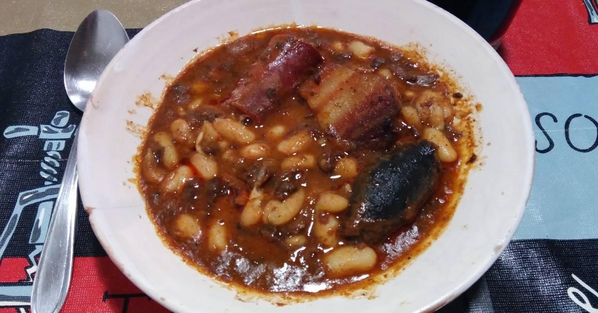 Recetas De Cocina Asturiana Faciles | Judias Blancas Cocidas Con Chorizo 32 Recetas Caseras Cookpad